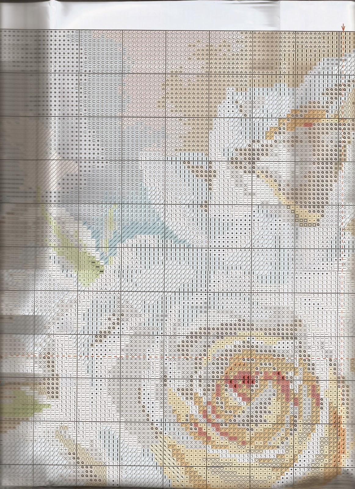 Схема вышивки алиса белые розы 15