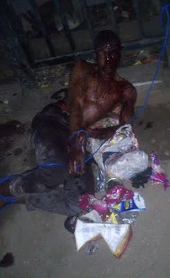 See what they did to an armed robber in Mushin (photos) 1