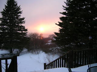 Winter sunset in Maine