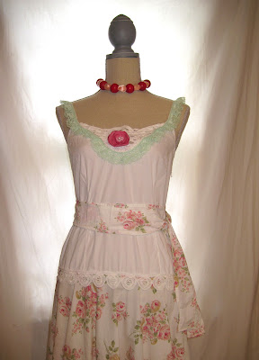 Strap Dress Nightgown, Size Small, Dropped Waist Shabby Chic