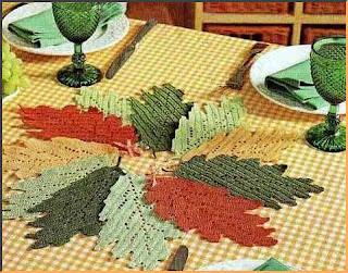 осенние листья крючком