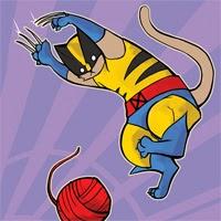 Wolverine Cat y otras parodias de superhéroes hechas con gatos y niños