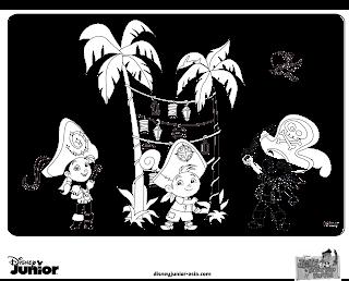 desenho colorir pintar jake e os piratas