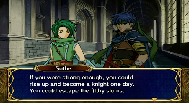 Fire Emblem Path of Radiance Sothe King Ashnard Daein rise up escape the slums base conversation