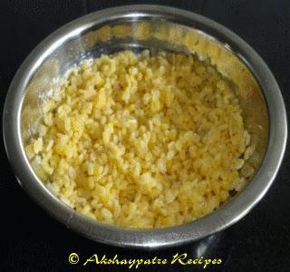 boiled moong dal to make sabzi