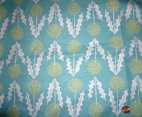 Vintage dandelion fabric