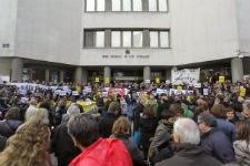 Protestas en Madrid contra las tasas judiciales en noviembre de 2013. / DAVID FERNÁNDEZ