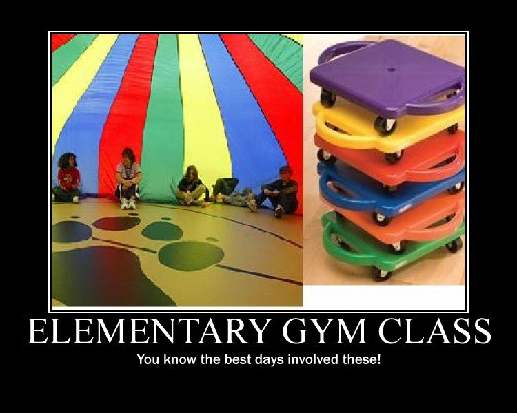 Elementary GYM Class - You Know The Best Days Involved These!