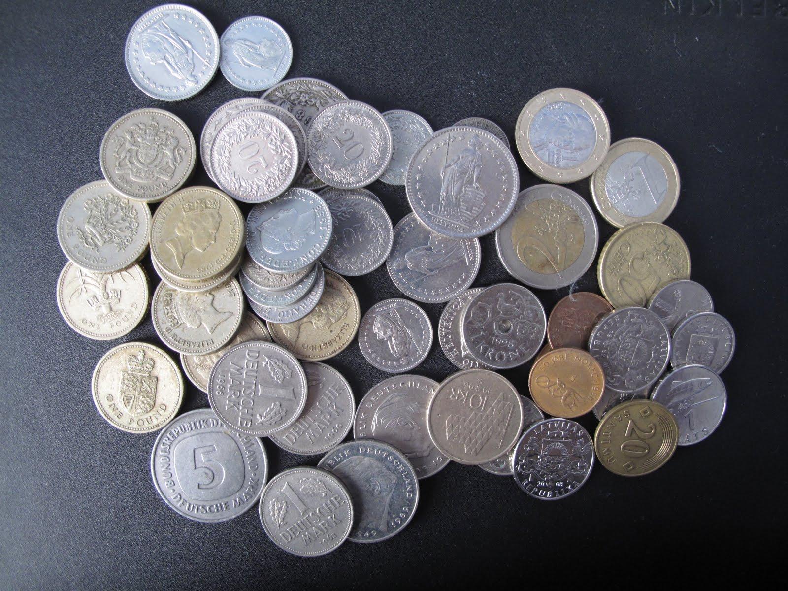 Sälja utländska mynt , växelmynt , växla tyska mark