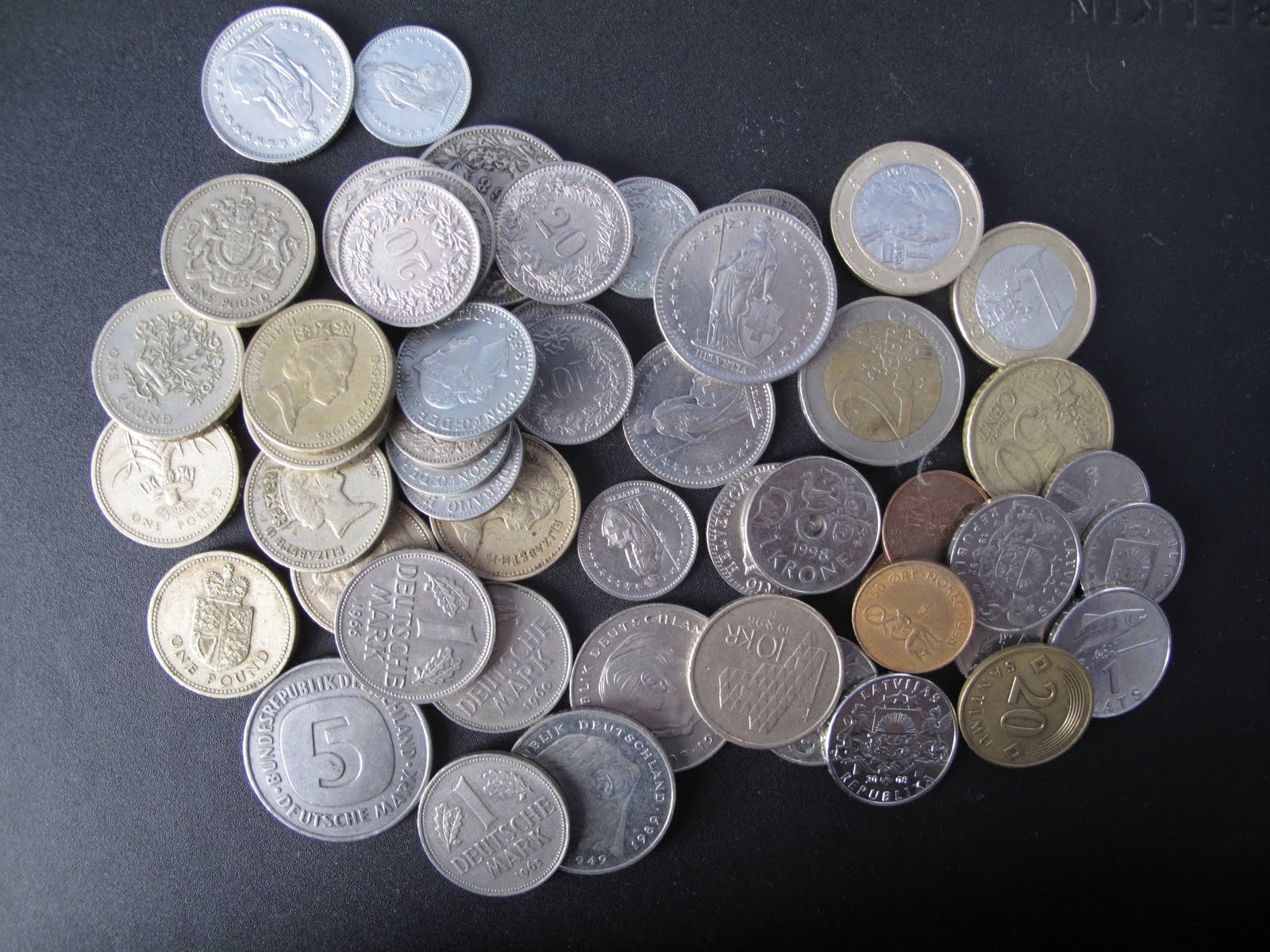 vart kan man växla in mynt