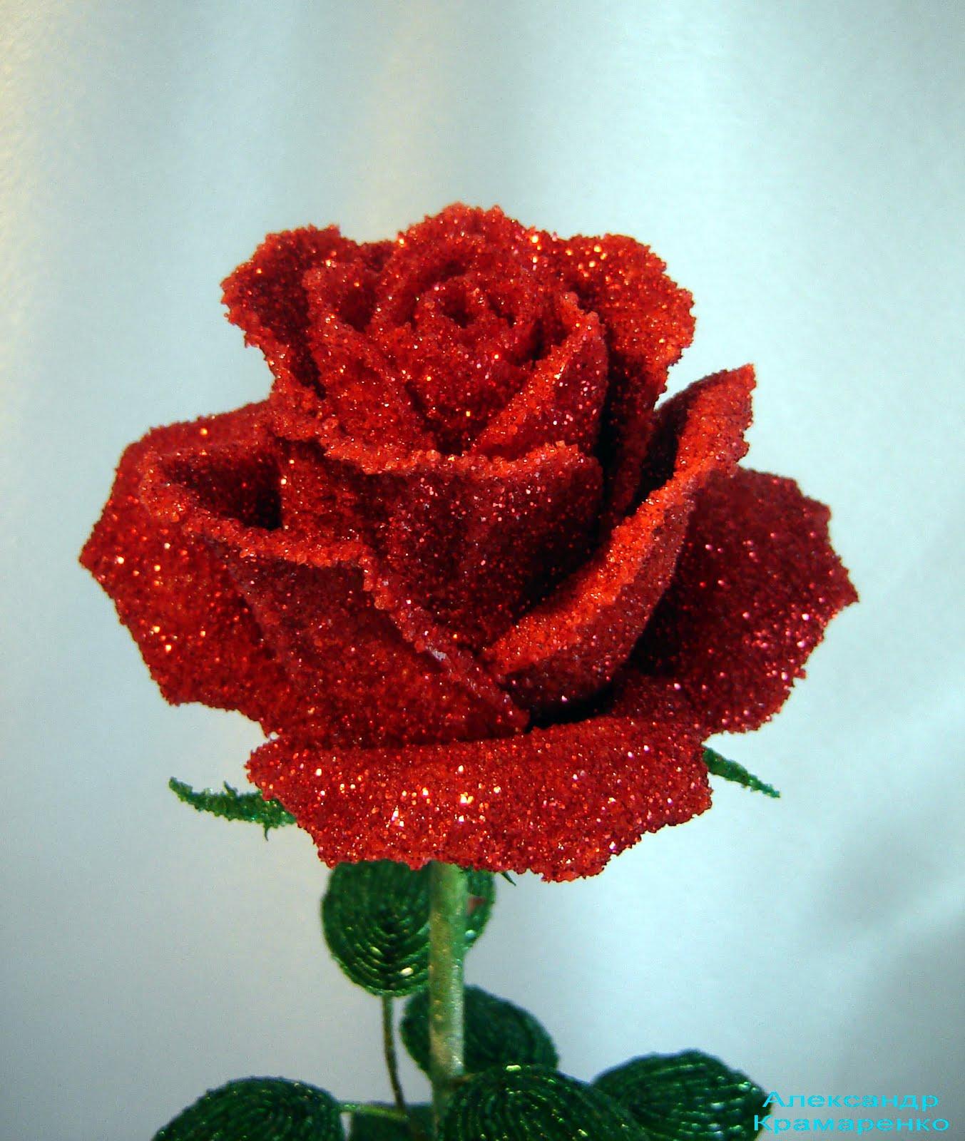 схема розы из бисера александра краменко