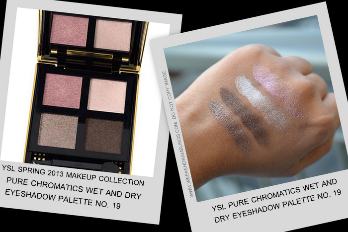 YSL spring 2013 makeup collection indian beauty blog darker skin swatches pure chromatics wet dry eyeshadow palette 19