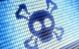 virus malware death skull