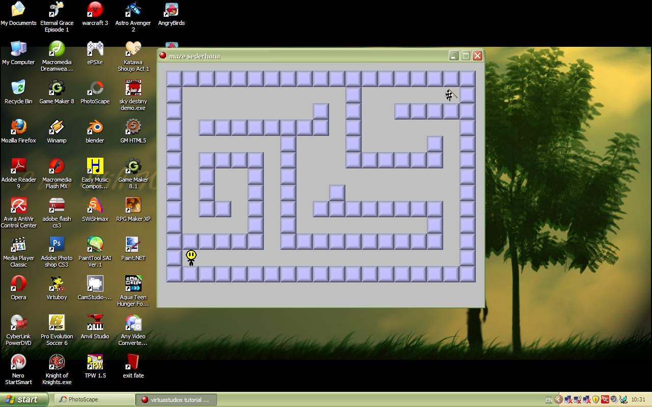 Virtuastudios tutorial hq membuat game maze sederhana dengan game dan wala wala anda telah menyelsaikan satu lagi tutorial game sederhana yang dapat anda buat di game maker tekan run untuk menjalankan gamenya baditri Gallery