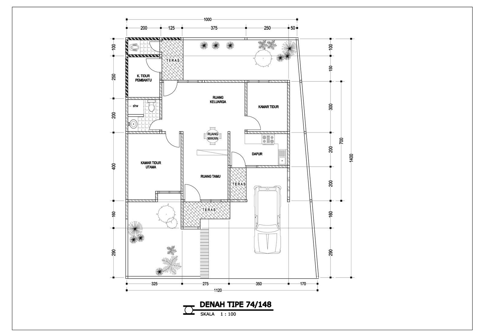 Aneka ide Desain Rumah Minimalis 1 Lantai Type 45 yg menawan