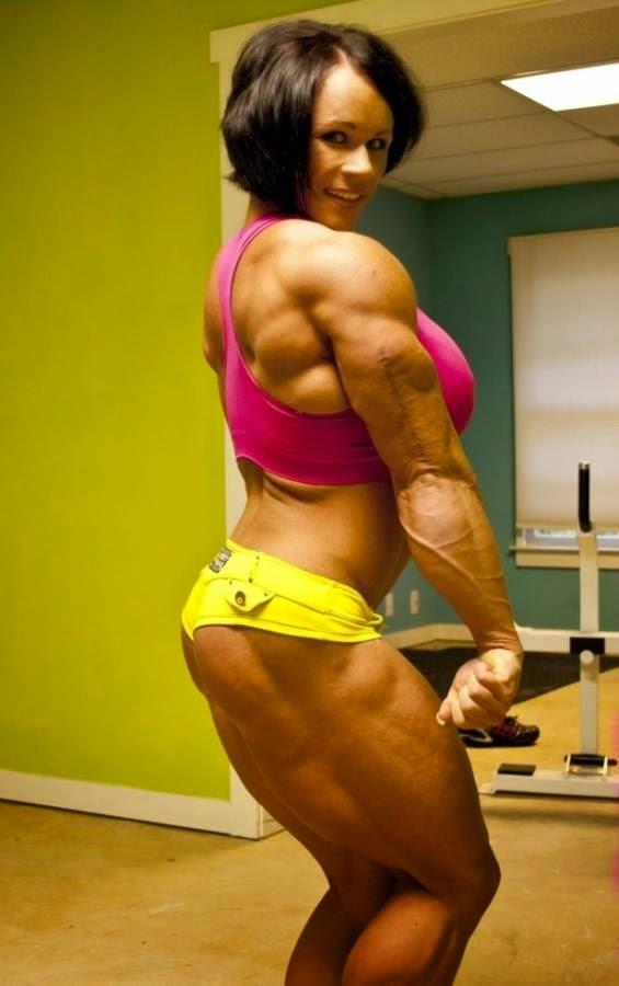 female aleesha young bodybuilder Huge