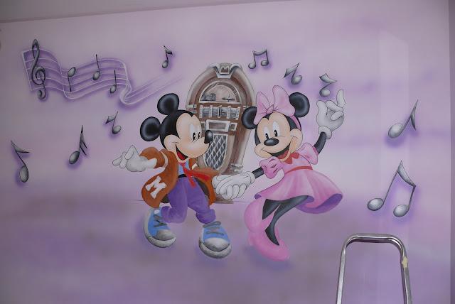 Aranzacja pojoju dziecka, dekoracyjne malowanie ściany w pokoju dziewczynki, to nie jest naklejka ścienne