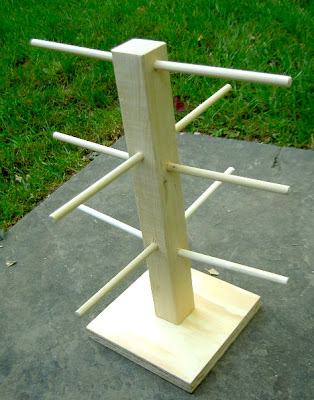 diy wood tree using dowels