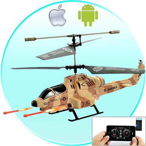 Cobra iHelicopter - iPhone/iPad/iPod Touch/Android Phone Controlled RC Helicopter (Desert Camouflage)