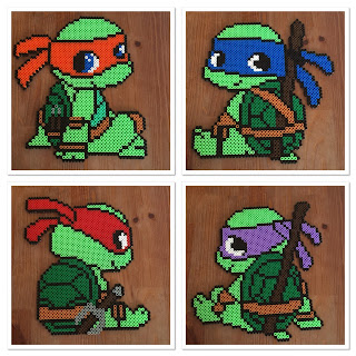 pärlplattor turtles donatello michelangelo rafael leonardo perler beads patterns childrens inspiration barnrum tips idéer