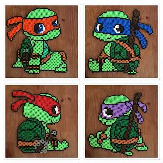 pärlplattor turtles donatello michelangelo rafael leonardo perler beads patterns childrens inspiration barnrum tips idéer