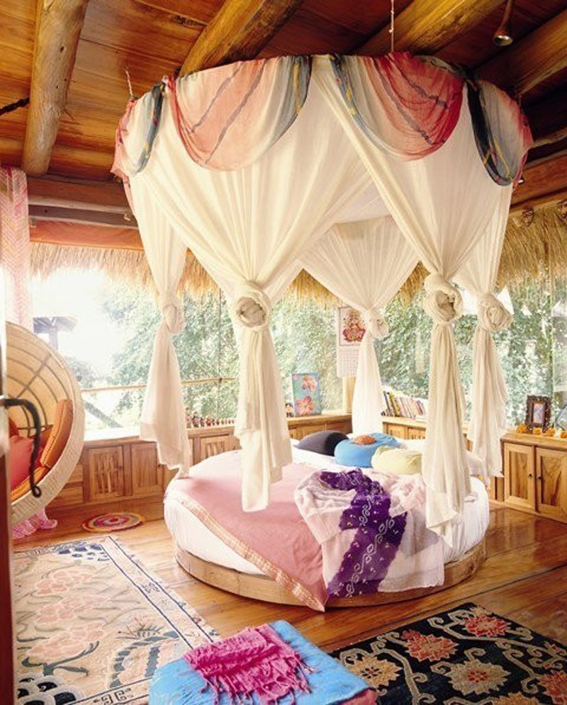 lias inspirations round canopy bed