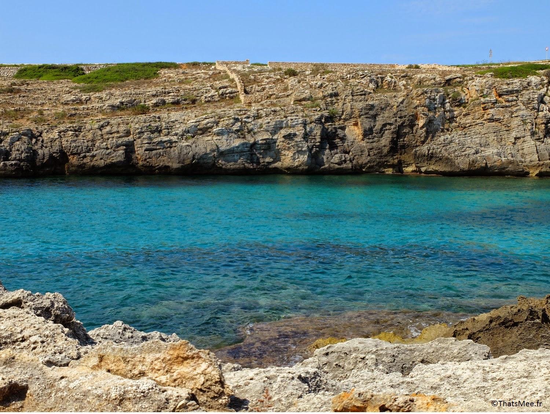 Plage de Binidali Sud-Est Minorque jolie crique Menorca
