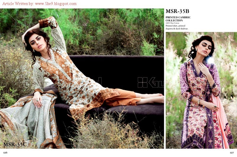 Gul Ahmed Printed Cambric Collection 2014