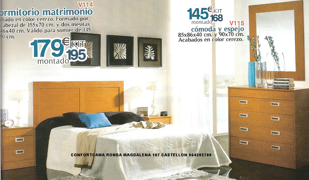 Muebles oferta kit dormitorios de matrimonio for Oferta muebles dormitorio