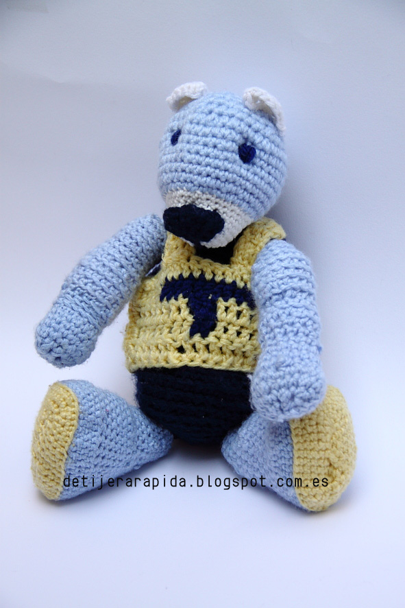 teddy bear oso amigurimi con snaps