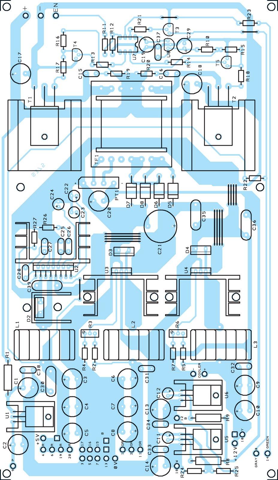 Une alimentation atx pour pc partir d une batterie de voiture 12 volts schema electronique net - Schema d implantation electrique ...