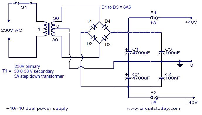 12V/24V simultaneously from 12-0-12