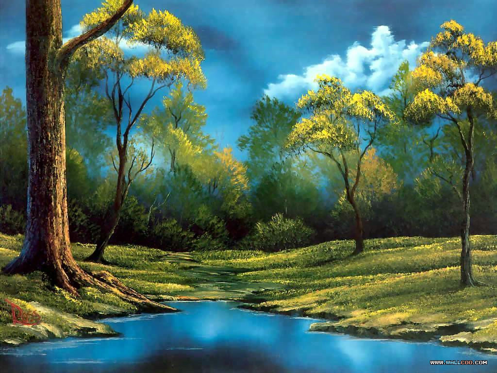 26 bob ross beautiful paintings npicx we share for Artwork landscapes