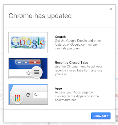 Chrome has Updated