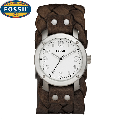 my loss is your gain fossil s braided leather cuff