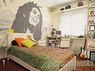 Ruang kamar remaja dekorasi reagee