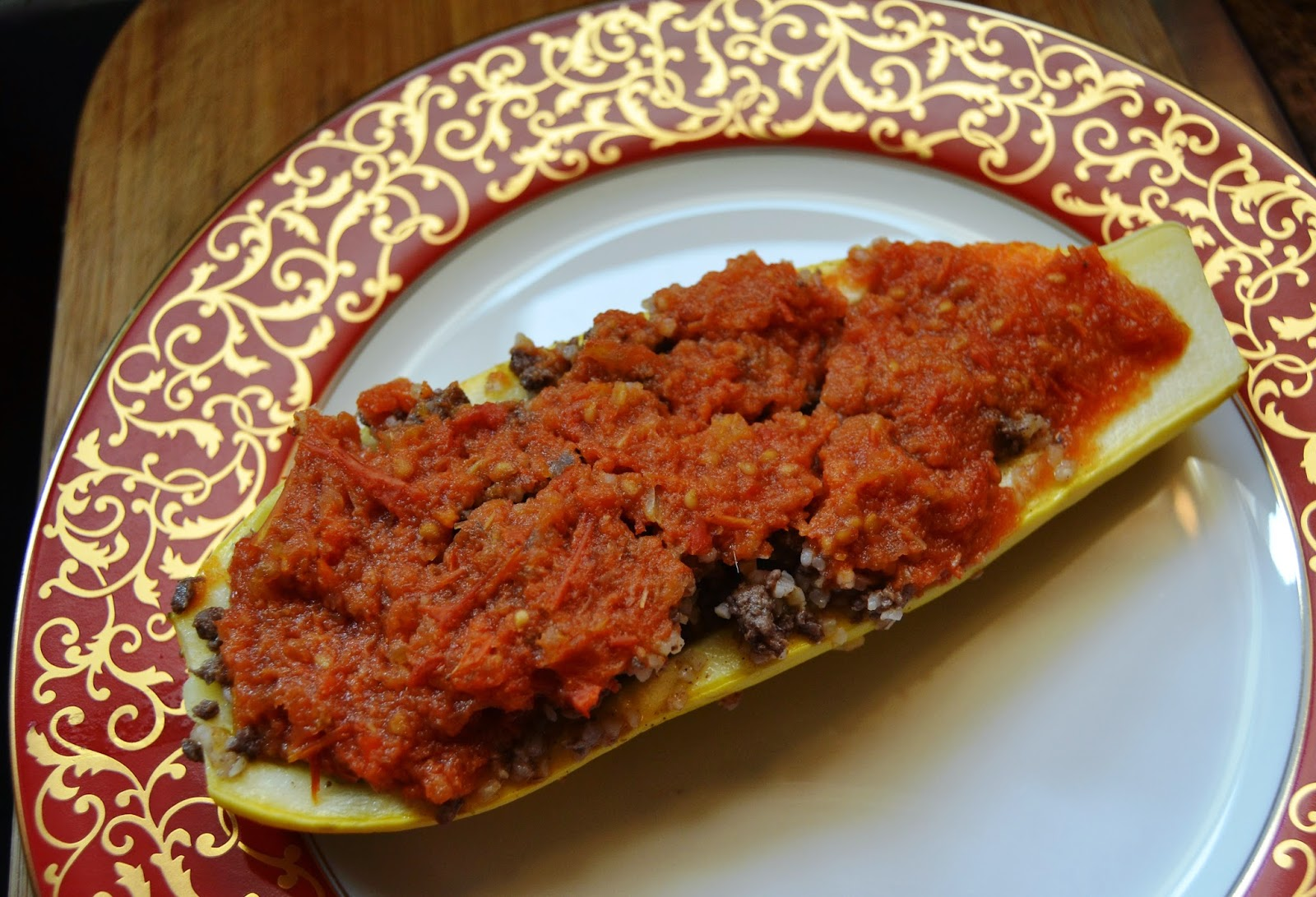 Vegetarian Stuffed Squash