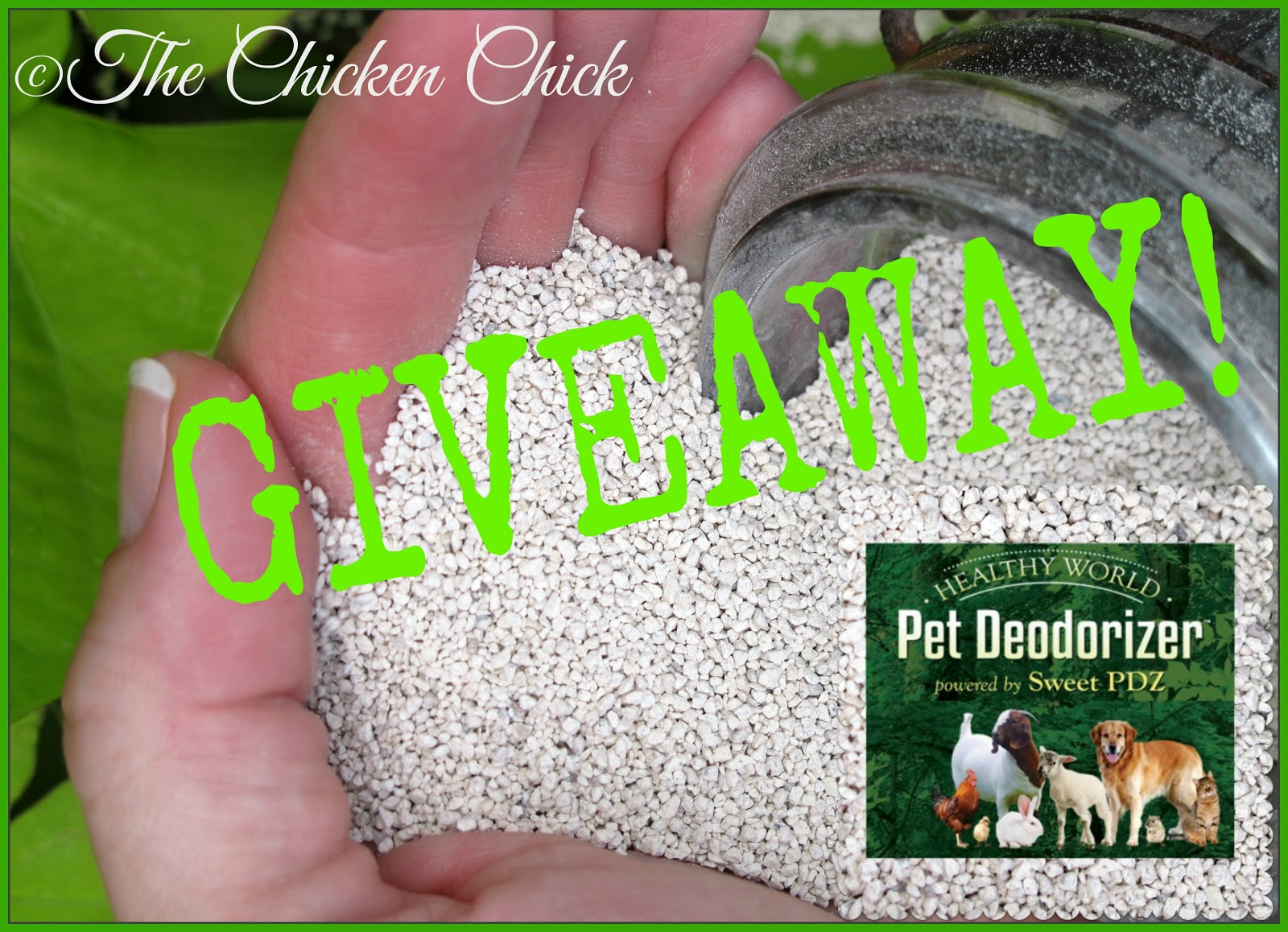 Sweet PDZ Healthy World Pet Deodorizer Giveaway at The Chicken Chick®