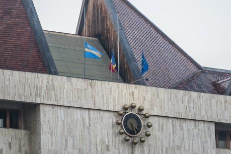 Csíkszereda, Hargita megye, székely zászló, Székelyföld, Adrian-Jean Andrei, zászlótörvény,