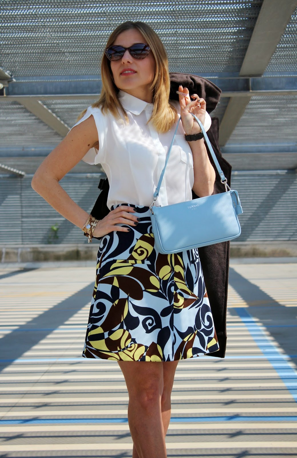 Eniwhere Fashion - Zara Skirt - Seventies - Lux Bag - Caco Design