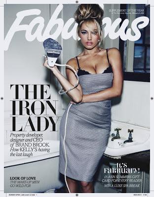 Kelly Brook Sexy Pose for Fabulous Magazine Photoshoot