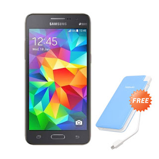 Samsung Galaxy Grand Prime VE G531 Gray Smartphone + Powerbank 7.800 mAh