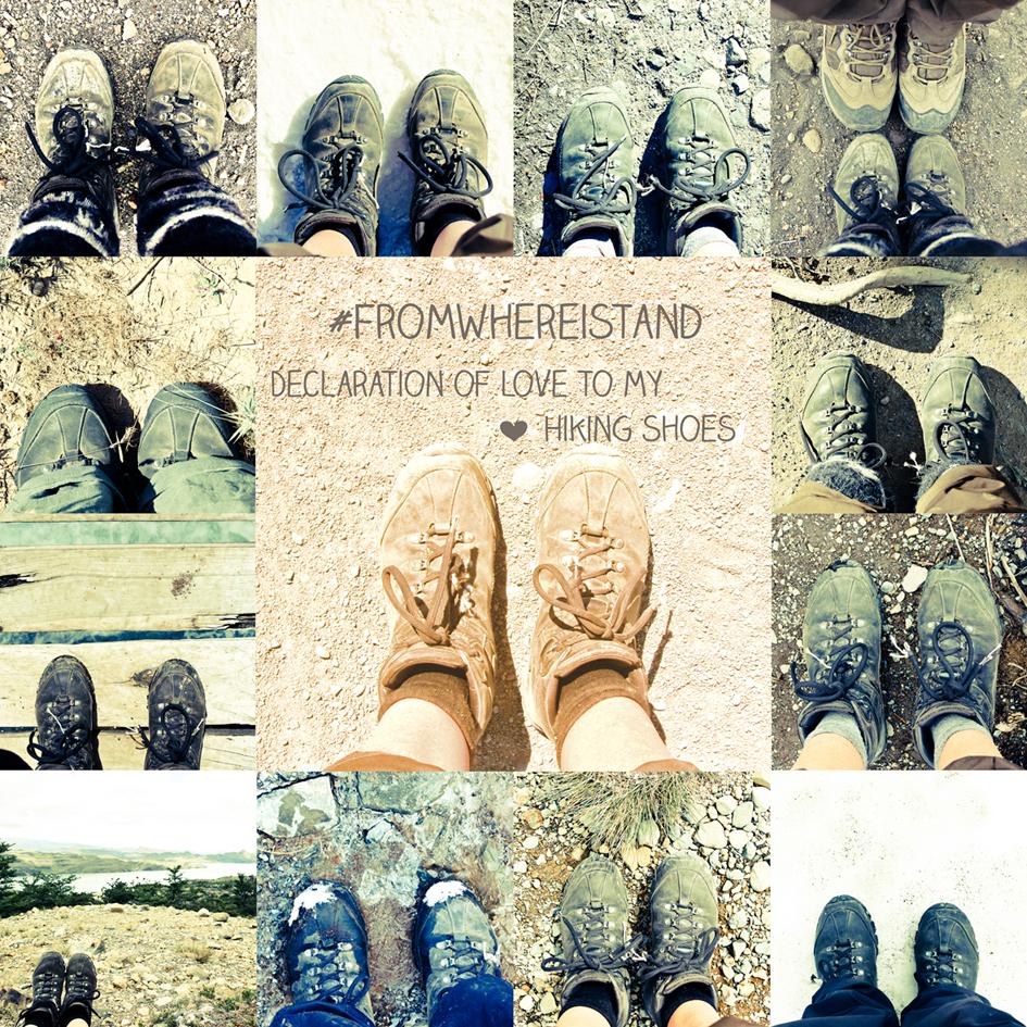 Schuhcollage Trekkingschuhe