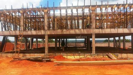 Construção da futura sede da embaixada da Palestina
