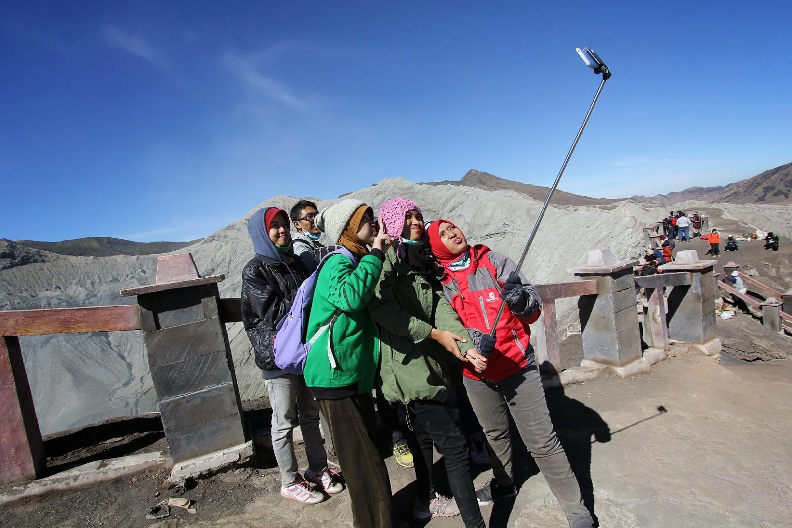 selfie di gunung bromo