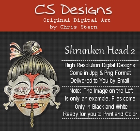 Shrunken Head digi stamp