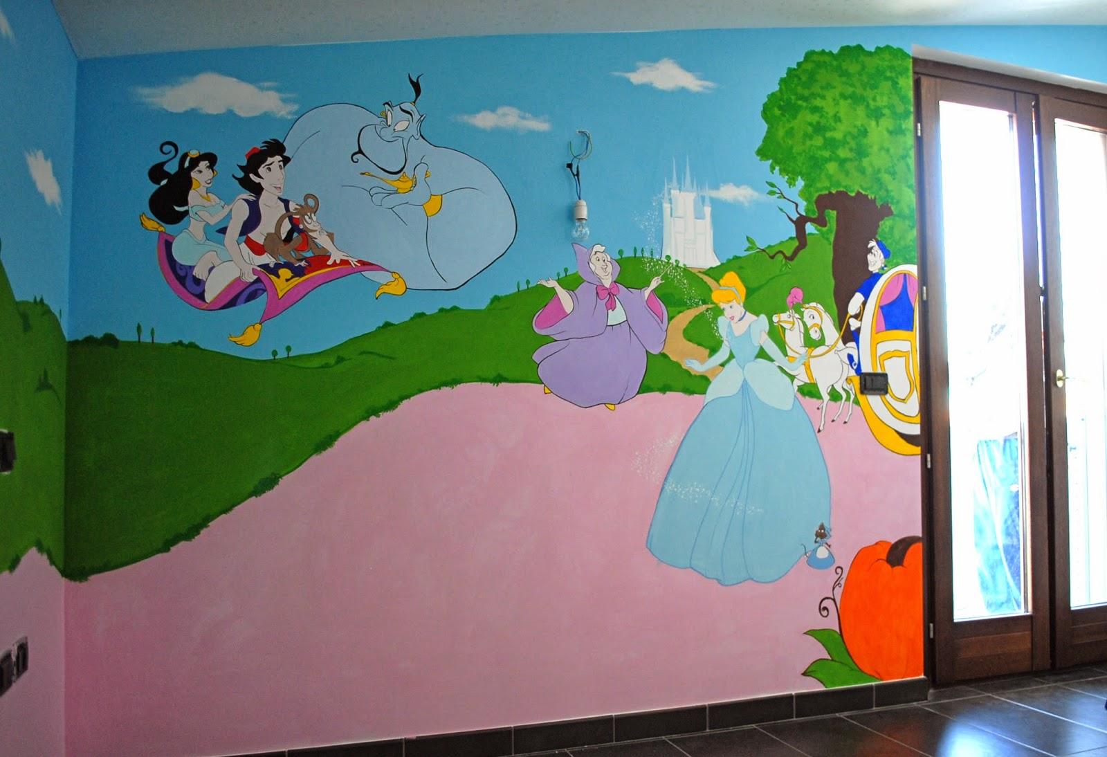 Decorazioni pareti cameretta disegno idea colori pareti - Pitture per camerette bambini ...