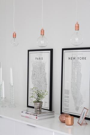 detalle lampara bombillas