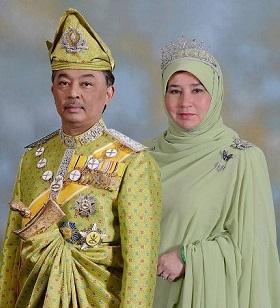 Sultan dan Tengku Ampuan Pahang Darul Makmur.