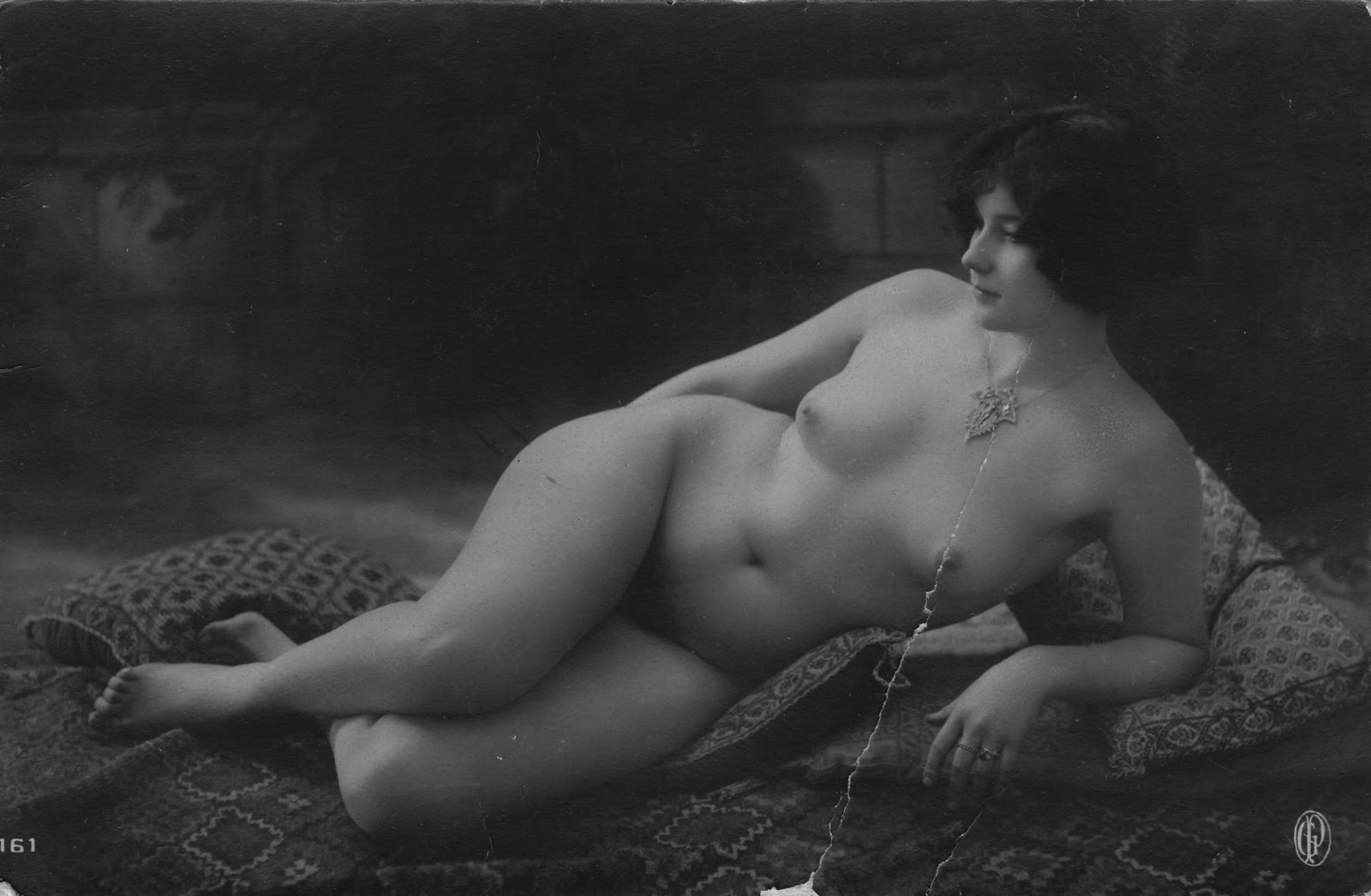 antique nude postcard